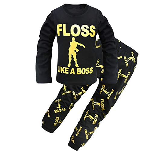Dgfstm - Pijama Dos Piezas - niño Negro Negro Medium