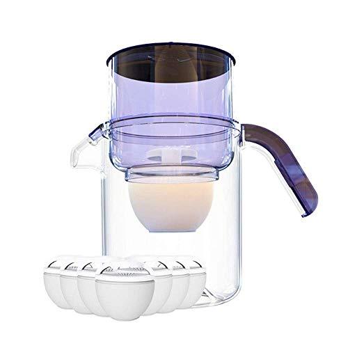 WEHOLY Jarra de Filtro de Agua alcalina de Cocina casera con 7 Cartuchos de Filtro, sin BPA, Jarra de Filtro de Agua de carbón Activado de 3.5L, Filtro de Agua de Mesa, reducción de Cal y Cloro