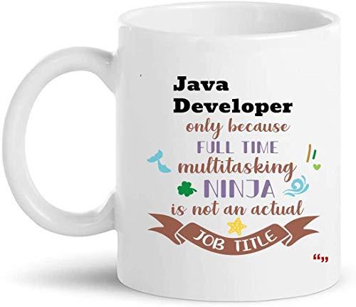 La mejor taza para desarrolladores de Java 11Oz Coffee Cup - Java Developer Gift Regalos personalizados para hombres Mujeres Camisetas Tazas Tazas