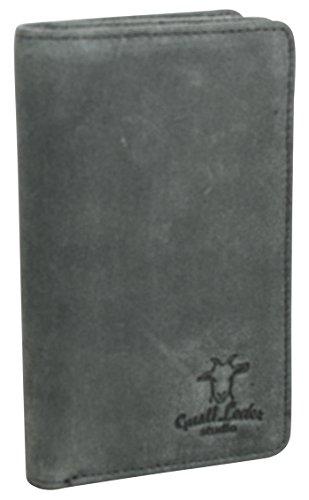 Gusti Studio Beckett Geldbörse Damen Portemonnaie Brieftasche Ledergeldbörse Damenbörse Vintage Kleingeld Elegant Rindsleder Unisex Grau 2A119-33-5