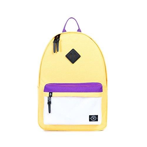 Zona verde piel plena flor Meadow Heavy-duty Webbing exclusivo mochila para portátil, escuela Venta artículos, venta y comercio