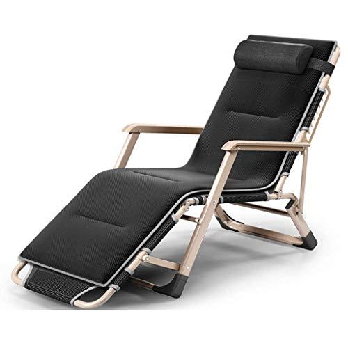 Carl Artbay Tuinmeubelen/opklapbed eenpersoonsbed lunch eenvoudige lunchpauze stoel kantoor dutje bed veldbed meervoudig verstelbaar (kleur: B. met kussen).