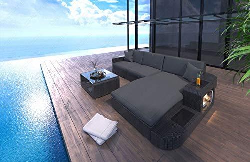 Canapé design en rotin en forme de L