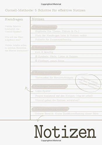 Cornell-Notizbuch, 100 A5-Seiten, liniert