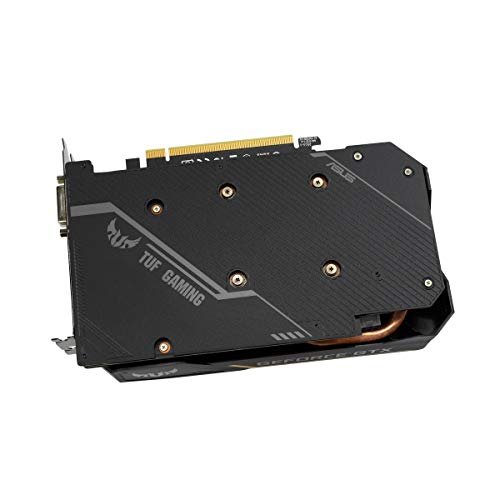 ASUS TUF Nvidia GeForce GTX 1650 4GB Power Gaming Grafikkarte (GDDR6 Speicher, PCIe 3.0, 1x HDMI 2.0b, 1x DVI, 1x DisplayPort 1.4, TUF-GTX1650-4GD6-P-GAMING)