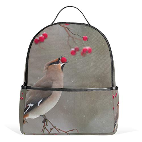 Schulrucksack mit Vogelfutter-Motiv, Segeltuch, großes Fassungsvermögen, lässiger Reise-Tagesrucksack für Kinder, Mädchen, Jungen, Kinder, Studenten, 3–9 Jahre