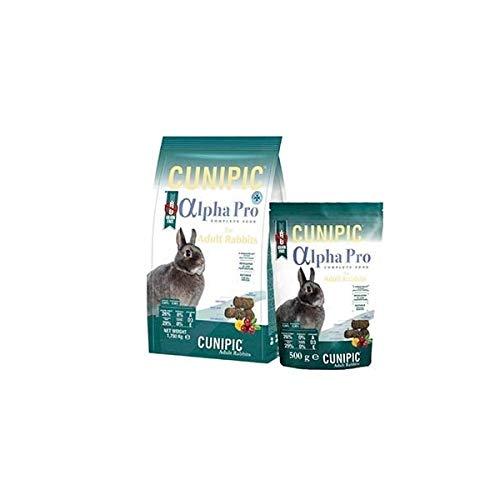 Cunipic Alpha Pro Comida Conejo Adulto 1,75KG, Negro, 1.75