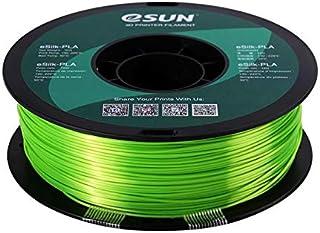 eSun eSilk-PLA 3D filament 1.75 mm, 1kg, Lime