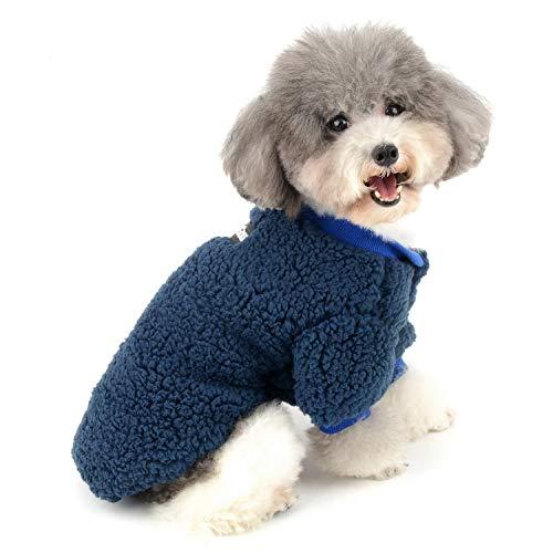 Zunea - Abrigo para perros pequeños - Abrigo cálido para invierno, de forro polar, para cachorros y chihuahuas - Ropa para mascotas como...