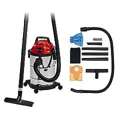 Sonde à sec humide TC-VC 1820 S (1250 W, 20 L, raccord de soufflage, support d'accessoires, incl. buse à eau/ sèche, buse de joint, tuyau en plastique 1,5m, 3tlg. Tubes en plastique, filtres à mousse)
