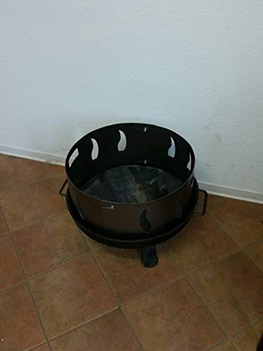 Funkenschutz mit Flammenmotiv für alle Feuerschalen Ø55cm