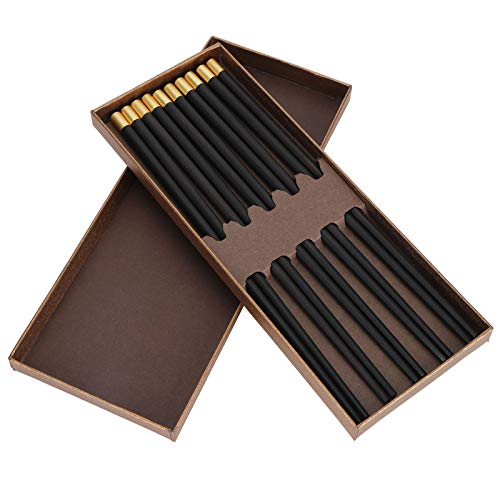 Omabeta Set de Regalo Utensilios de Viaje Reutilizables para Picnic para Socios comerciales(Purple Sandalwood Five Pairs Gift Box)