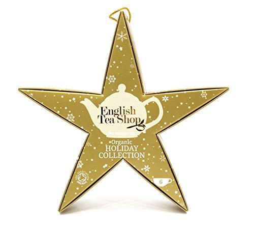 """English Tea Shop - Stern zum Aufhängen """"Gold Star"""", BIO-Tee, 6 Pyramidenbeutel"""