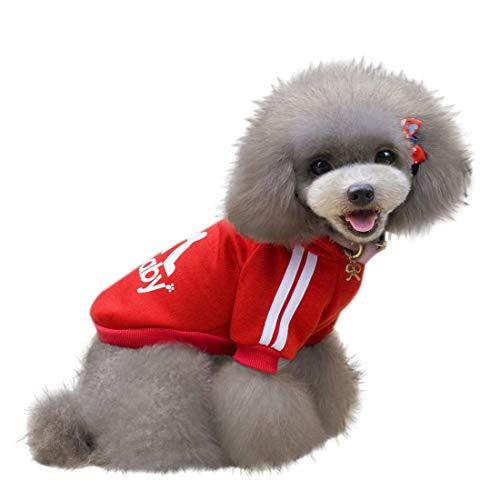 KayMayn Adidog Hundemantel Haustier Mantel Hund Kleider Mantel Kleidung Pullover Haustier Welpen T-Shirt, Verschiedene Größen von S bis 9XL