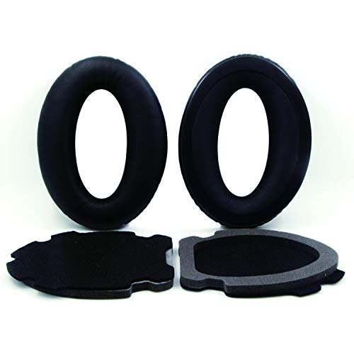 Replacement Earpads Ear Pads Cushions for Bose Aviation Headset X A10 A20 Headphones Headset,Black