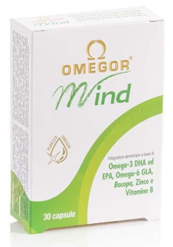 Omegor Mind - Complemento Alimenticio con Omega-3 DHA y Extracto de Bacopa...
