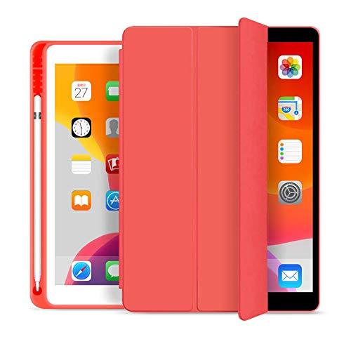 Capa Novo iPad 7a e 8a Geração 10.2″ WB Premium Slim Antichoque com Compart. para Pencil Vermelha