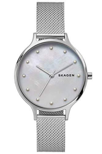 Skagen Damen Analog Quarz Uhr mit Edelstahl Armband SKW2775