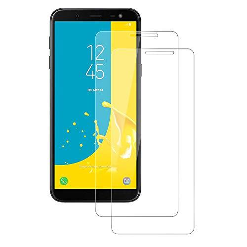 POOPHUNS [2 Pack Vetro Temperato Compatibile con Samsung Galaxy J6 2018 [Anti-Graffo/Olio/Impronta], Pellicola Vetro Temperato con 9H Durezza Protezione Elevata per Galaxy J6 2018