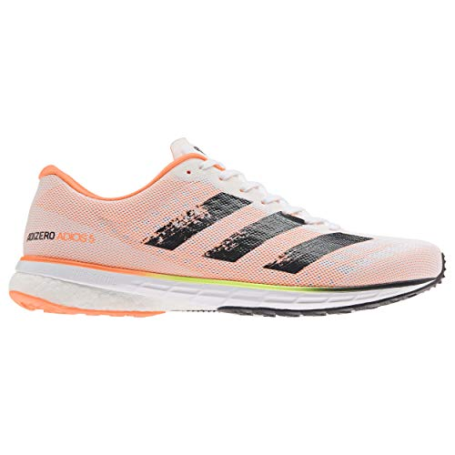 adidas Adizero Adios 5 m, Zapatillas para Correr Hombre, FTWR White/Core Black/Screaming Orange, 44 EU