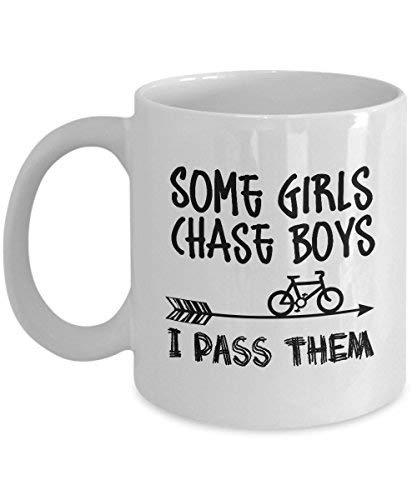 Fietsen Mok voor Vrouw Die Ride Mountainbike Mok Perfect Fiets Geschenken Ideeën voor Vrouwen Moeder Vrouw Haar Jongens Zuster voor Moederdag Grappige Quote Keramische Fiets Koffie Mok Thee Cup 11 oz Koffie Mok Wit