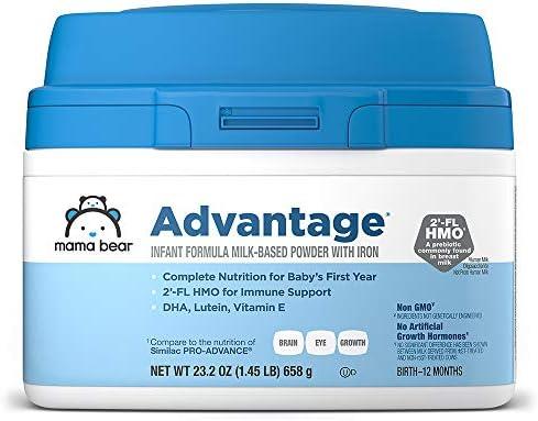 Amazon Brand Mama Bear Advantage Infant Formula Milk based Powder With Iron Non gmo 23 2 Ounce product image