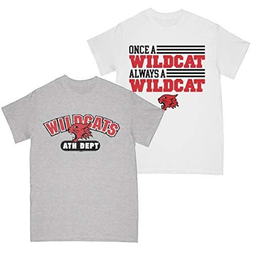 Absolute Cult High School Musical Girls Wildcats Athletic Dept - Once A Wildcat T-Shirt Multi confezione da 2 Multi 5-6 Anni