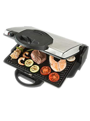 Bourgini Classic Health Grill Deluxe Grill, zwart, roestvrij staal