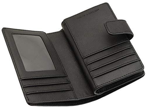 [マイケルコース]MICHAELKORS財布(二つ折り財布)35T9RTVF2Lブラックジェットセットトラベルレザービルフォールドジップコインウォレットレディース[アウトレット品][ブランド][並行輸入品]