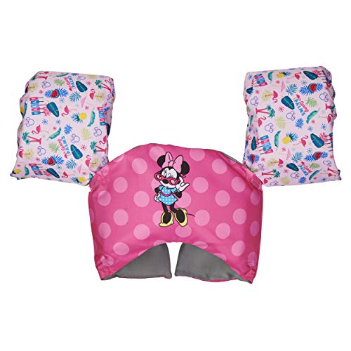 SwimWays Disney Character Learn-to-Swim USCG Approved Kids Life Jacket, Minnie Mouse
