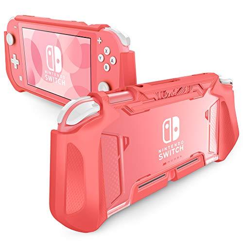 Mumba Étui pour Nintendo Switch Lite, Coque de Protection en TPU Étui Accessoire Portable Compatible avec Console Nintendo Switch Lite 2019 (Corail)