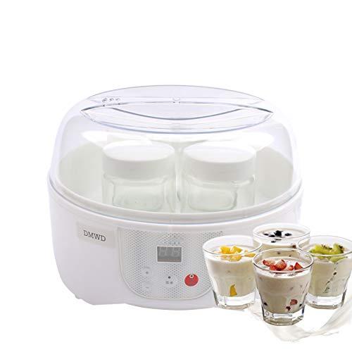 CICIN Multifunktionaler elektrischer Joghurtbereiter, Timing Natto Rice Wine Machine Automatischer Joghurtfermenter mit 4 Leben Glasbechern