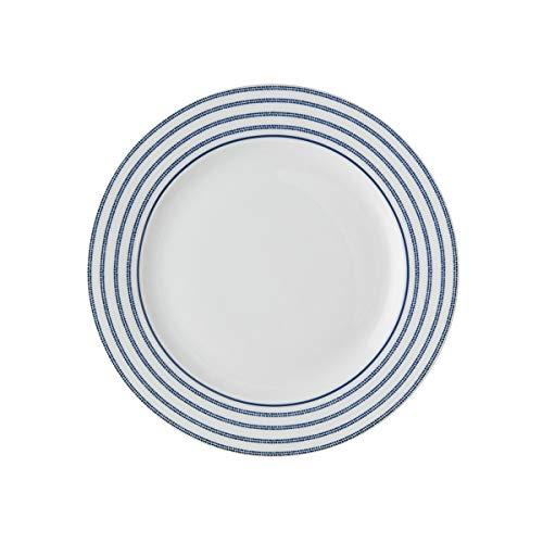 Laura Ashley - Platos, platos de postre - Blueprint Candy Stripe - 18 cm de diámetro.