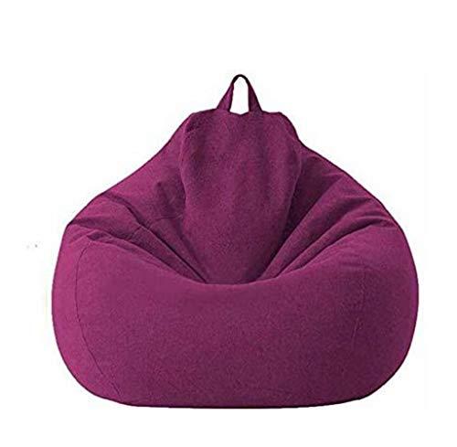 JUNGEN Sitzsack-Sesselbezug, Sofabezug, Lazy Lounger mit hoher Rückenlehne, Sitzsackbezug mit DREI Seitentaschen für Erwachsene und Kinder(ohne Füllung)