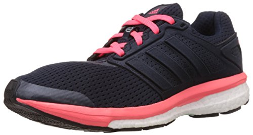 adidas Supernova Glide Boost 7, Damen Laufschuhe, Blau (Night Navy/Silver Met./Flash Red S15), 36 2/3 EU
