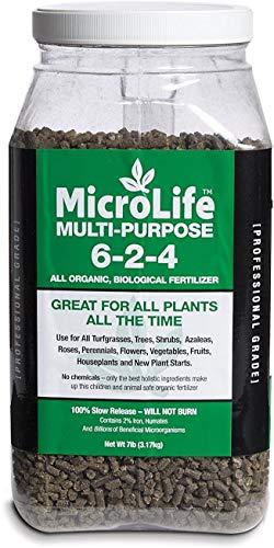 MicroLife Multi-Purpose (6-2-4) Professional Grade Granular Organic Fertilizer for All Plants, 7 LBS