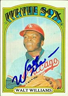 Autograph Warehouse 70445 Walt Williams Autographed Baseball Card Chicago White Sox 1972 Topps No. 15
