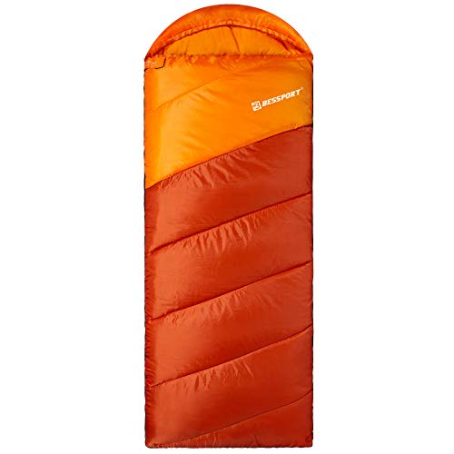 Bessport Sleeping Bag for Adults,7℃ Warm & Cold Weather Sleeping Bag 3 Season,Lightweight and Water Repellent for Indoor & Outdoor Use,Backpacking & Camping & Hiking
