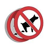 imaggge.com - Lote de 2 paneles rígidos para prohibir el caca de perro,...
