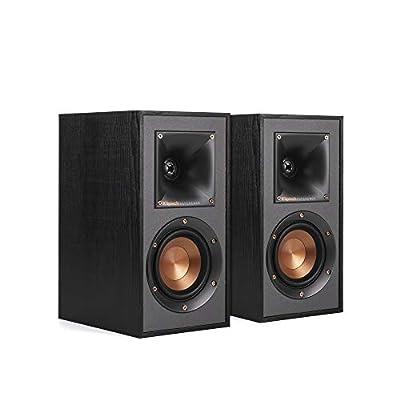 Klipsch R-41M Powerful Detailed Bookshelf Home Speaker Set of 2 Black by Klipsch