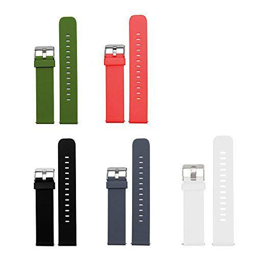 Lamshaw Fossil Q Venture Smartwatch Band, Classic Silicone Sport Band for Fossil Q Venture/Fossil Gen 4 Q Venture HR (Classic Silicone Band-5 Pack)