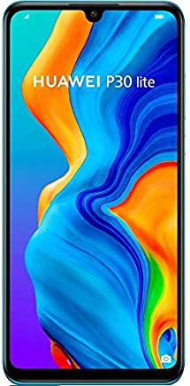 "Huawei P30 Lite MAR-LX2 128GB, 6.15"" Display, 6GB RAM, AI Triple Camera, 32MP Selfie, Dual SIM, GSM Unlocked International Model, No Warranty (Peacock Blue)"