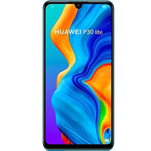 "Huawei P30 Lite MAR-LX2 128GB, 6.15"" Display, 6GB RAM, AI Triple Camera, 32MP Selfie, Dual SIM, GSM Unlocked International Model, No Warranty (Peacock Blue)"