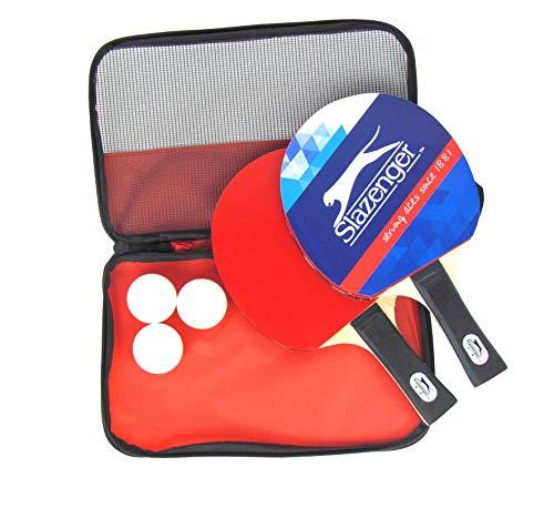 Juego de ping pong (6 piezas, 2 raquetas, 3 pelotas, incluye bolsa de transporte)