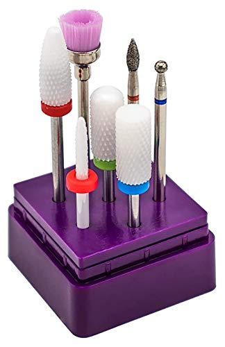 SHUHANG bits de Taladro de uñas para uñas de acrílico bits de Broca de uñas Efile Nail Brocas bits 7pcs bits de Taladro de Clavo de carburo