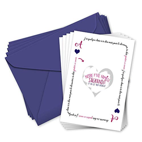 PACK de 5 cartes à gratter'Notre famille s'agrandit' - annonce grossesse - naissance famille et...