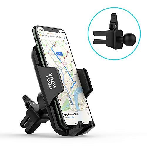 YOSH Handyhalterung Auto Lüftung Handyhalter fürs Auto KFZ Handyhalterung Handyhalter 4,7-6,5 Zoll Universal für iPhone 11 Pro X 8 7 Samsung S10 S9 S8 Note 9 8 Huawei P30 Pro Mate GPS-Geräte usw.