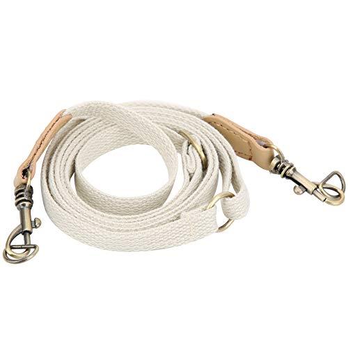 Atyhao Taschen Riemen, 29,5~48 Zoll Ledergürtel Verstellbarer Schultergurt Lederhandgefertigte Handtasche Umhängeband DIY Handtaschen zubehör mit Bronzeteilen(Beige)