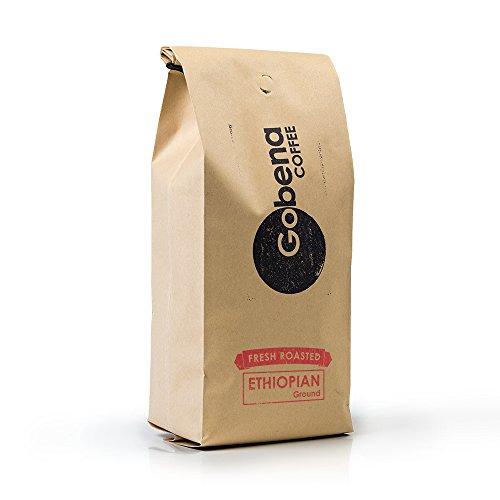 2lb Ethiopian Yirgacheffe Ground Coffee, Light Roast, 100% Arabica Specialty Coffee, 32 ounces, 2 pounds, Bulk Coffee