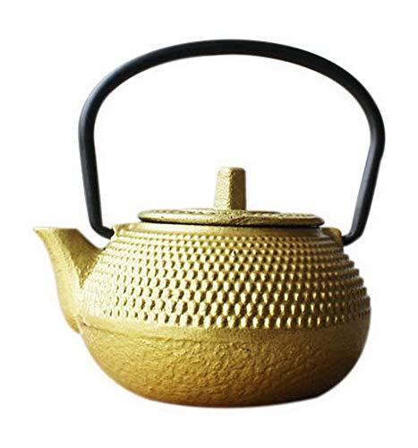 Spicy Meow 1.8 Oz Mini Iron Teapot, Giappone Southern Ghisa Retro Teiera Ornamenti, d'oro